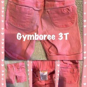Gymboree pink denim shorts NWOT